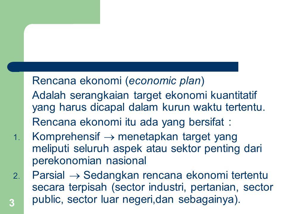4 Sebagian besar rencana pembangunan di negara berkembang dirumuskan dan dilaksanakan dalam system perekonomian campuran.