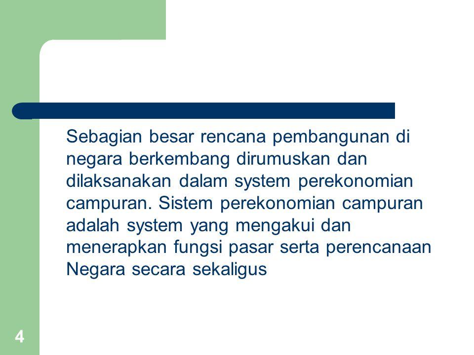 15 8.Masalah kemampuan administrasi pemerintah untuk melaksanakan rencana pembangunan.