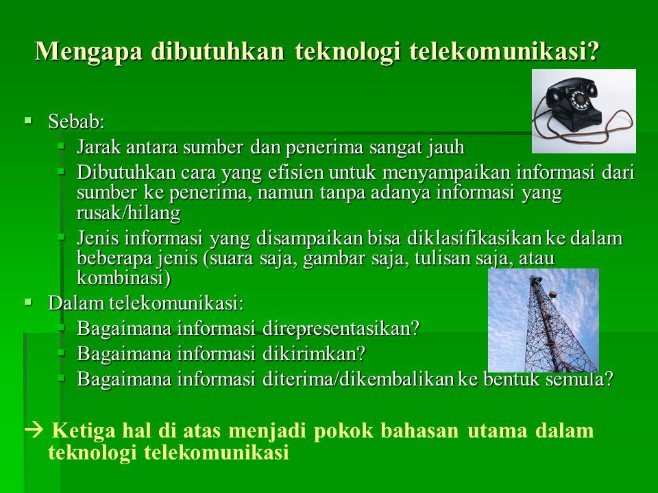 Mengapa dibutuhkan teknologi telekomunikasi.