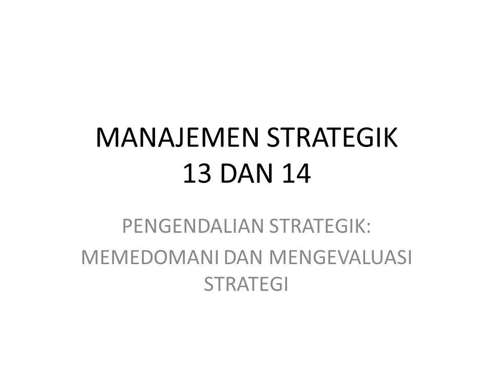 Misi Perusahaan Profil Perusahaan Lingkungan ekstern -Jauh -Industri (global dan domestik -operasional Analisis dan pilihan strategik Sasaran jangka panjang Strategi Umum Sasaran tahunan Strategi Operasional kebijakan Melembagakan strategi Pengendalian dan evaluasi Dikehendaki Mungkin Keterangan dampak besar dampak kecil Umpan balik