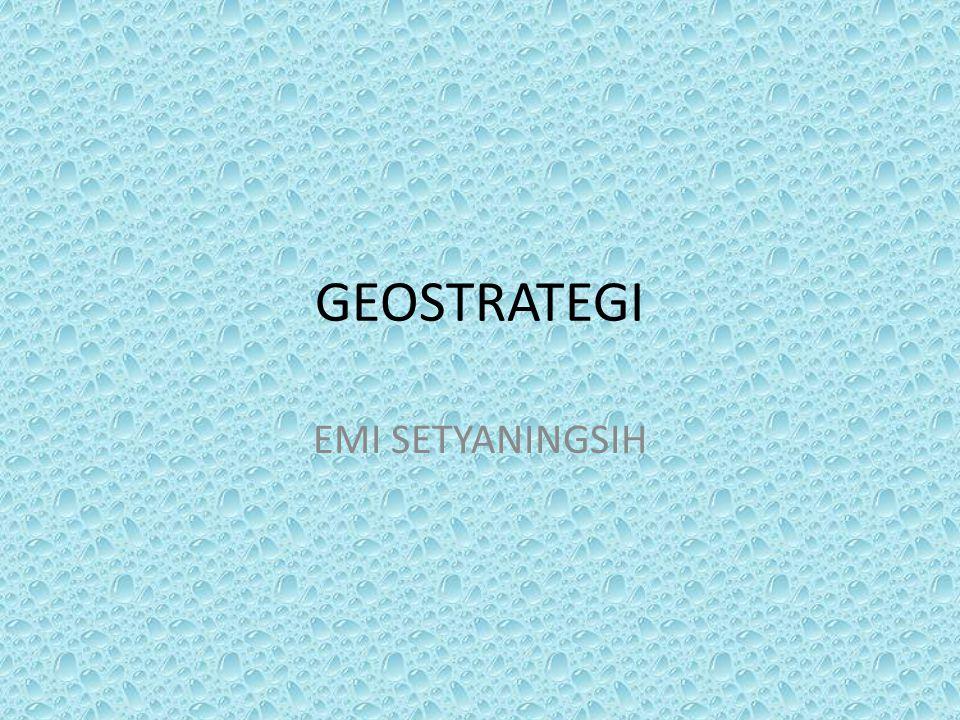 Latar belakang Wawasan nusantara yang merupakan geo politik indonesia dalam pelaksanaannya perlu dijabarkan dalam bentuk geostrategi.