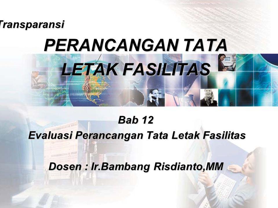 BAMBANG RISDIANTOPERANCANGAN TATA LETAK FASILITAS 2 1.