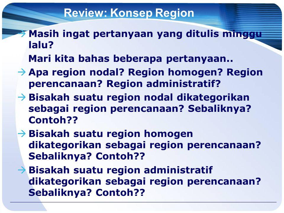 Review: Konsep Region  Masih ingat pertanyaan yang ditulis minggu lalu.