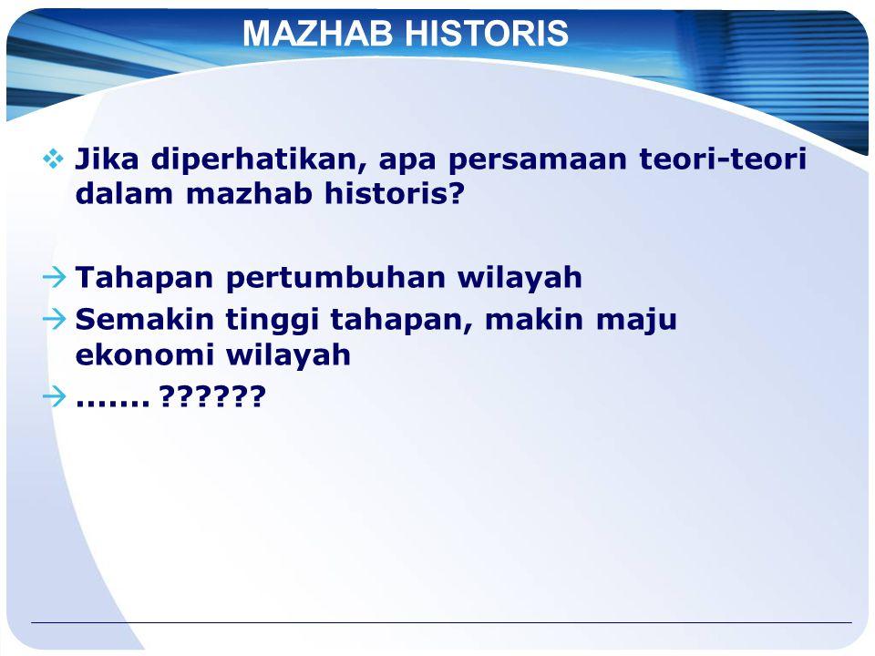  Jika diperhatikan, apa persamaan teori-teori dalam mazhab historis.