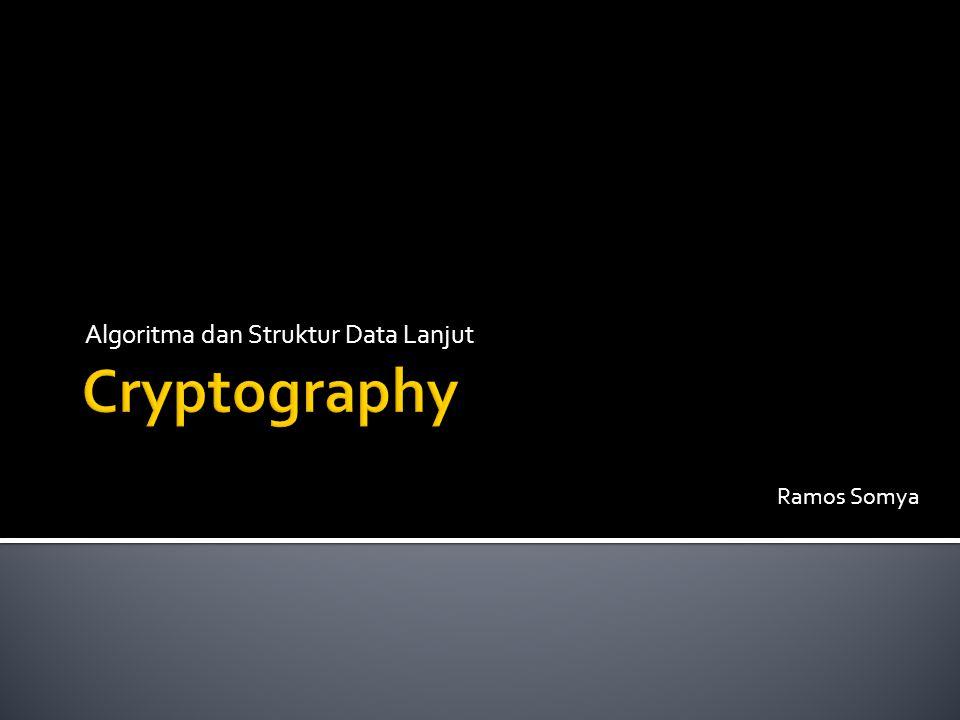  Kriptografi dalam sejarahnya tercatat dipergunakan secara terbatas oleh bangsa Mesir 4000 tahun lalu.