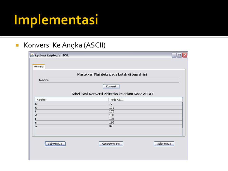  Konversi Ke Angka (ASCII)