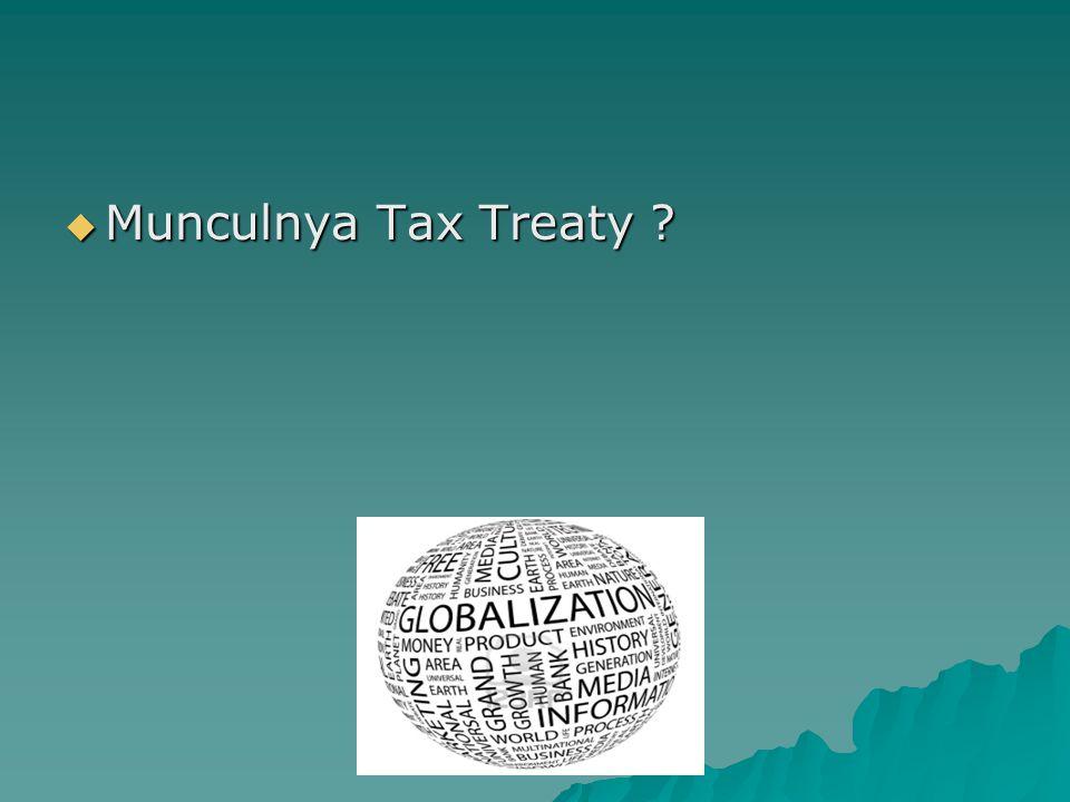  Munculnya Tax Treaty ?