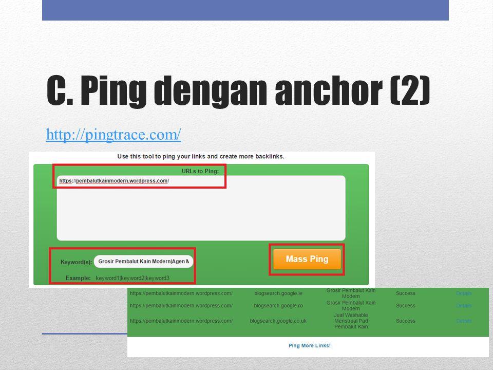 C. Ping dengan anchor (2) http://pingtrace.com/
