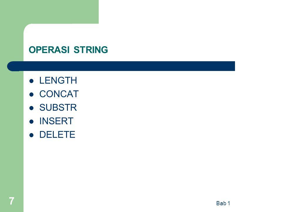 Bab 1 7 OPERASI STRING LENGTH CONCAT SUBSTR INSERT DELETE