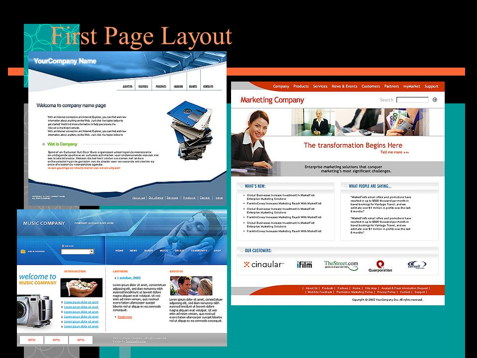 First Page Layout