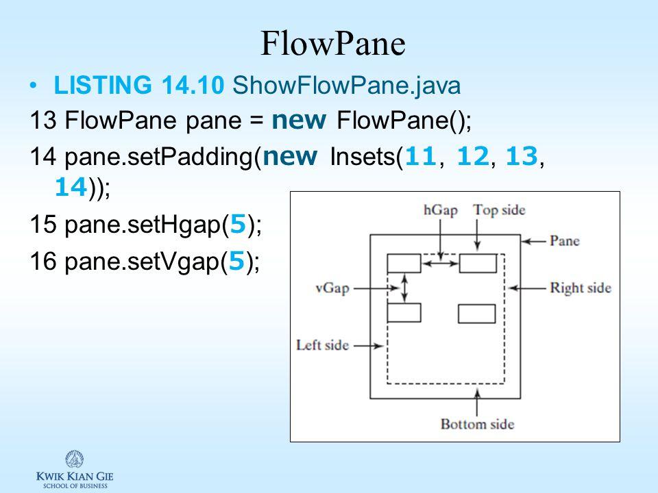 Layout Panes JavaFX menyediakan sejumlah layout untuk meletakan nodes dilokasi dan ukuran diinginkan