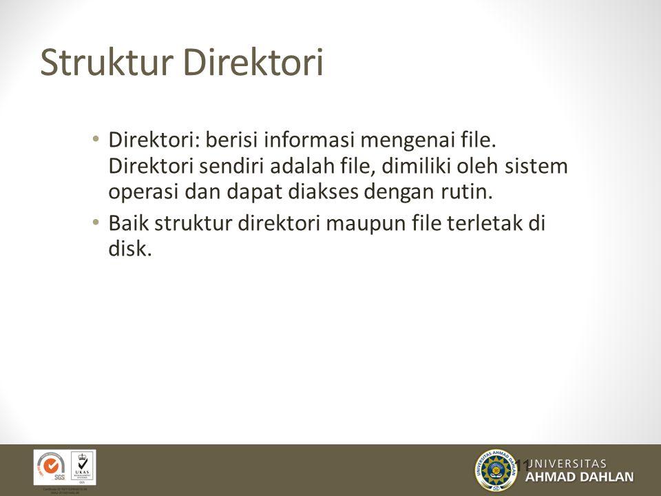 Struktur Direktori Direktori: berisi informasi mengenai file.