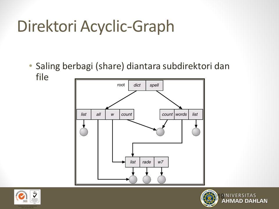 Direktori Acyclic-Graph Saling berbagi (share) diantara subdirektori dan file 19