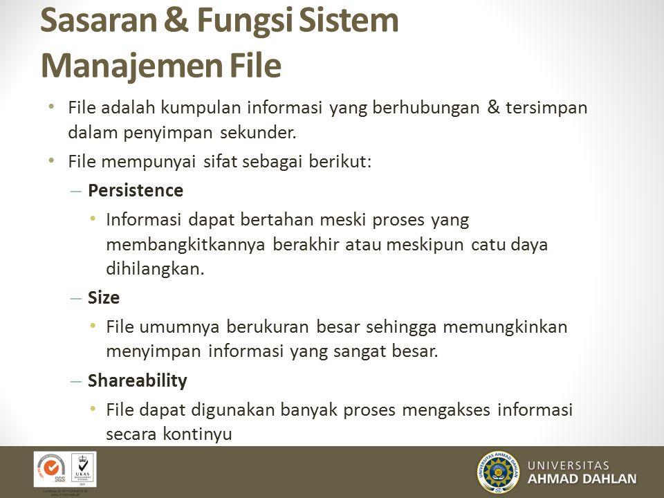 Tingkatan /level dari Sistem File (cont.) 23