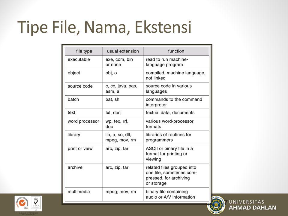 Tipe File, Nama, Ekstensi 7