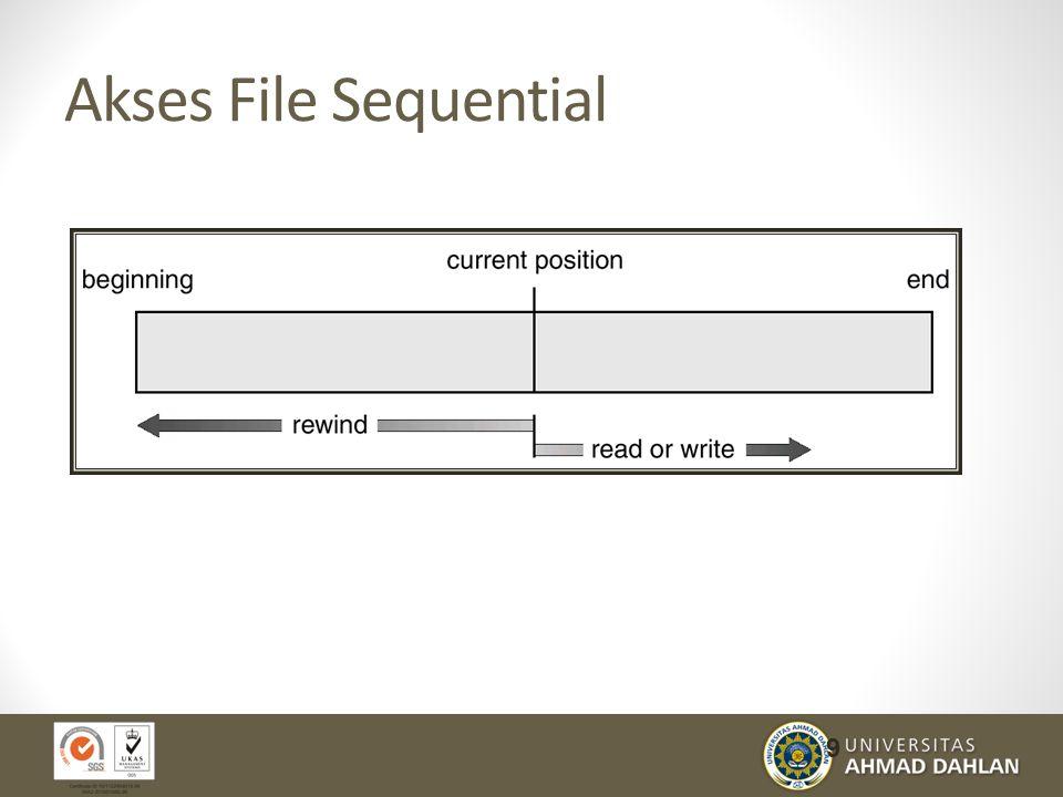 File Sharing Sharing file pada sistem multi user sangat diharapkan Sharing dapat dilakukan melalui skema proteksi.