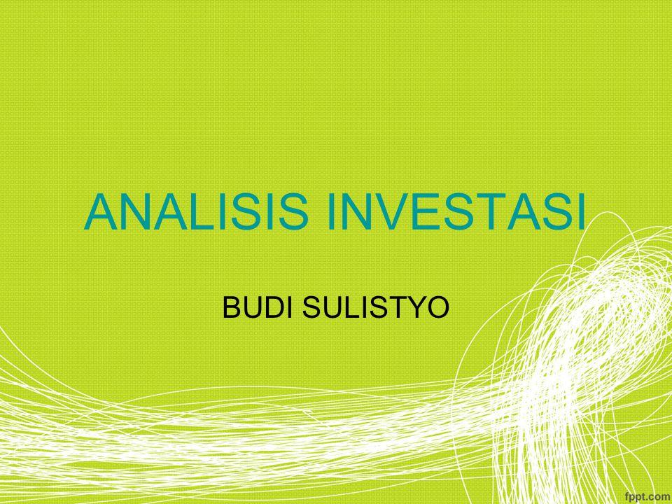 ANALISIS INVESTASI BUDI SULISTYO