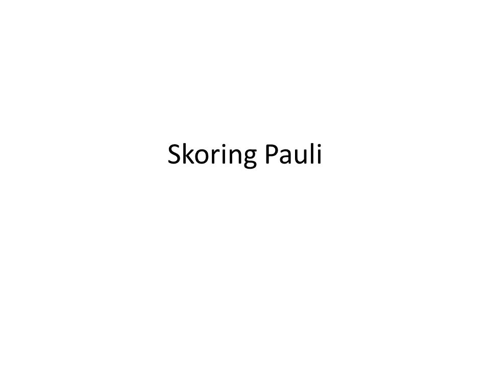 Skoring Pauli