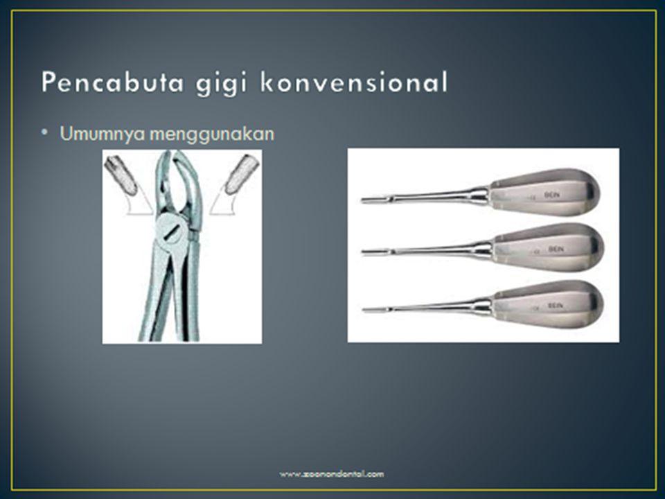  Tang molar mempunyai desiain sesuai dengan akar gigi Molar, pada ujung bukal setiap forcep dapat masuk kedalam bifurkasi bukal dimana berakar 2 sedangkan pada sisi palatal sesuai dengan kontur akarnya.