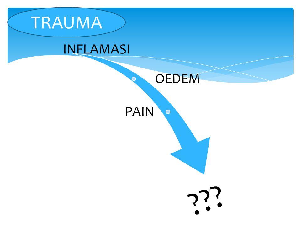INFLAMASI OEDEM PAIN ??? TRAUMA