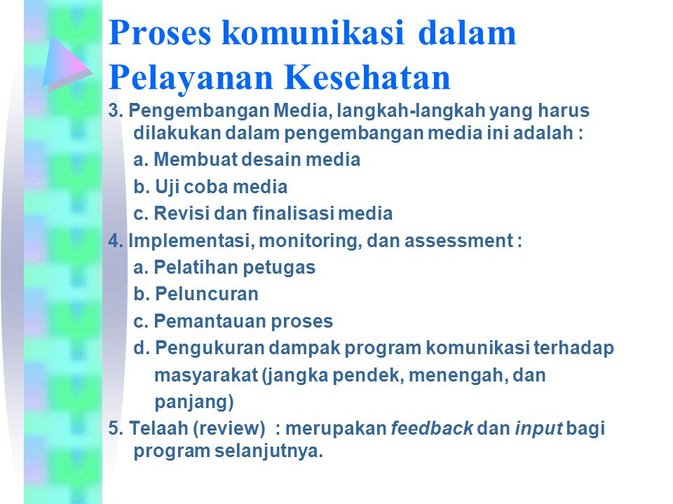 3. Pengembangan Media, langkah-langkah yang harus dilakukan dalam pengembangan media ini adalah : a. Membuat desain media b. Uji coba media c. Revisi