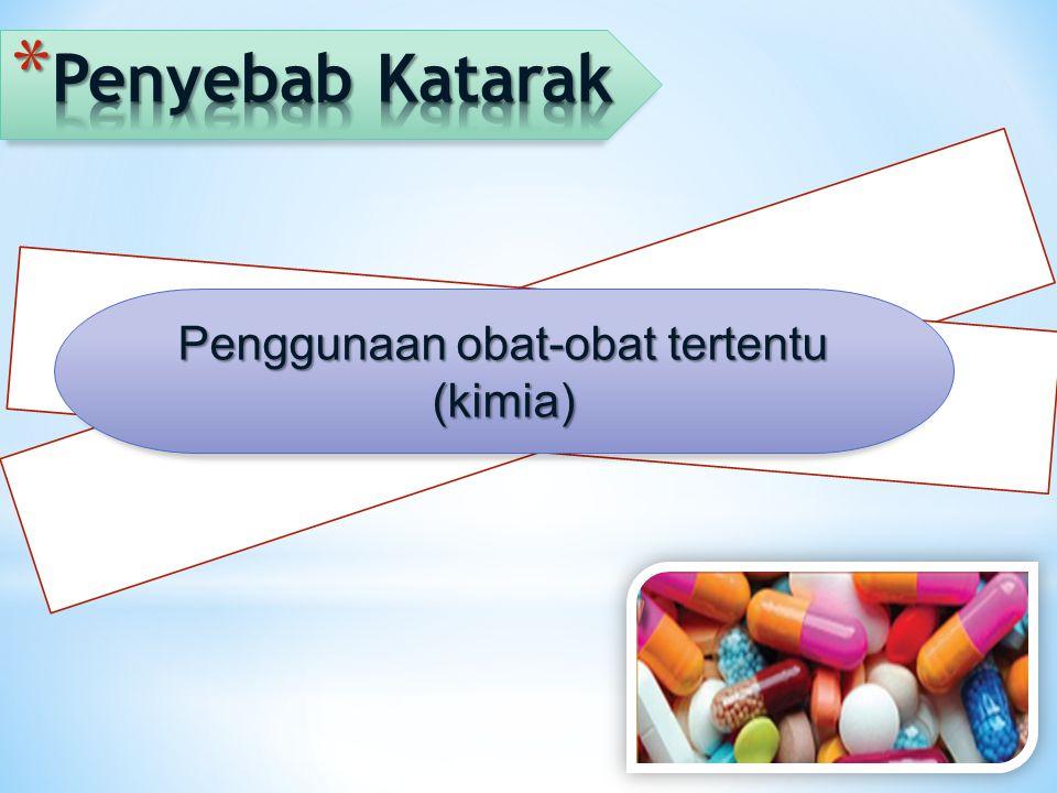Penggunaan obat-obat tertentu (kimia)