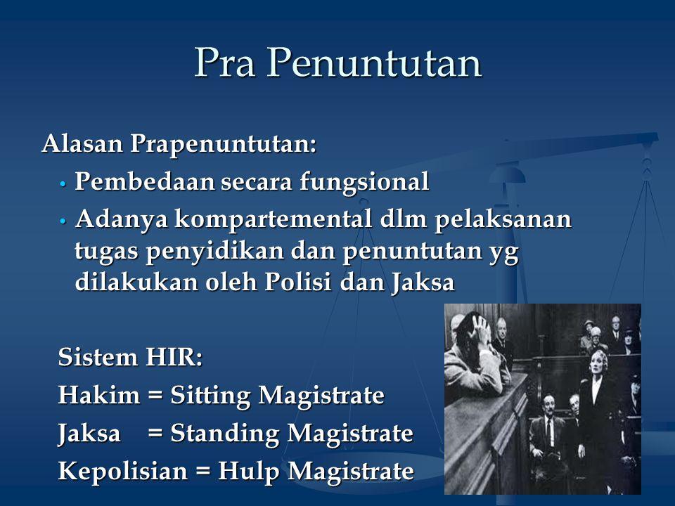 3 Prosedur Pra Penuntutan Definisi: Ps.14 B KUHAP: salah satu wewenang JPU.