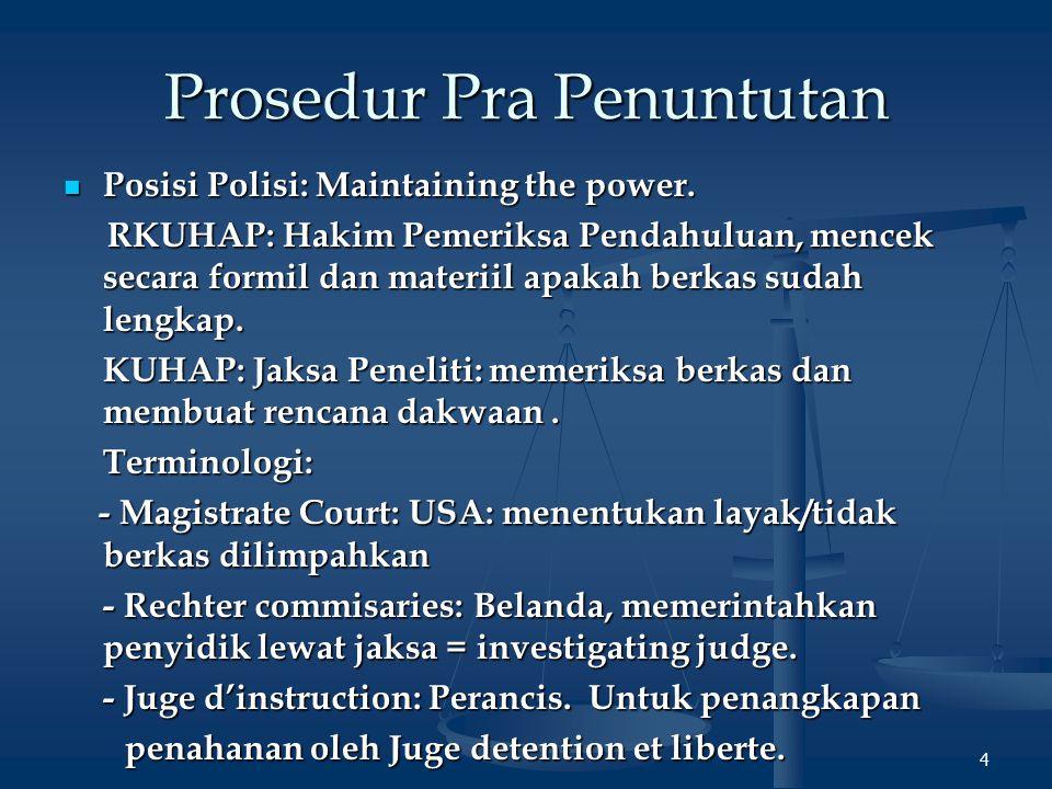 Prosecution by FD15 Kompetensi (2) 2.Luar KUHAP: 2.