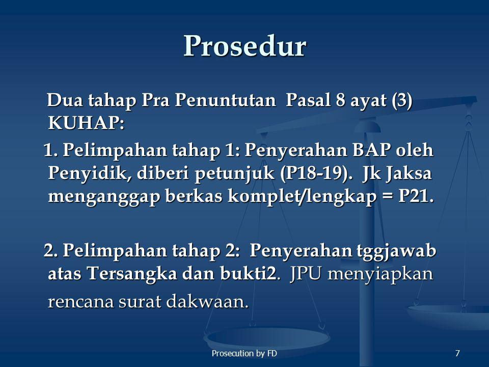 Prosecution by FD18 Wewenang JPU (2) c.Berkaitan dengan Penahanan d.