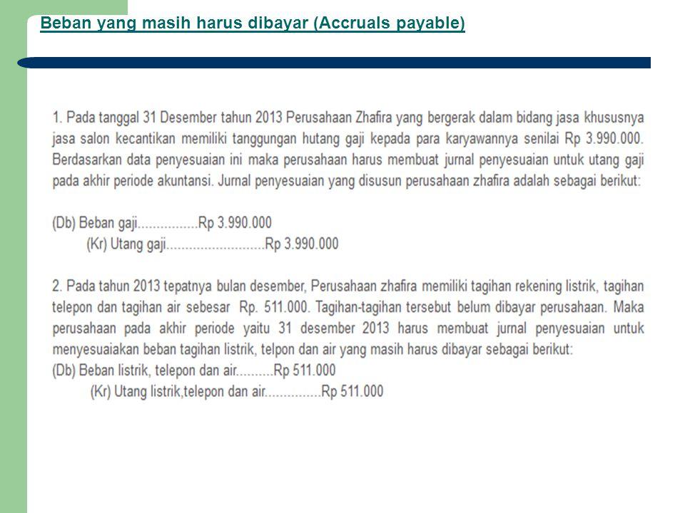 Beban yang masih harus dibayar (Accruals payable)