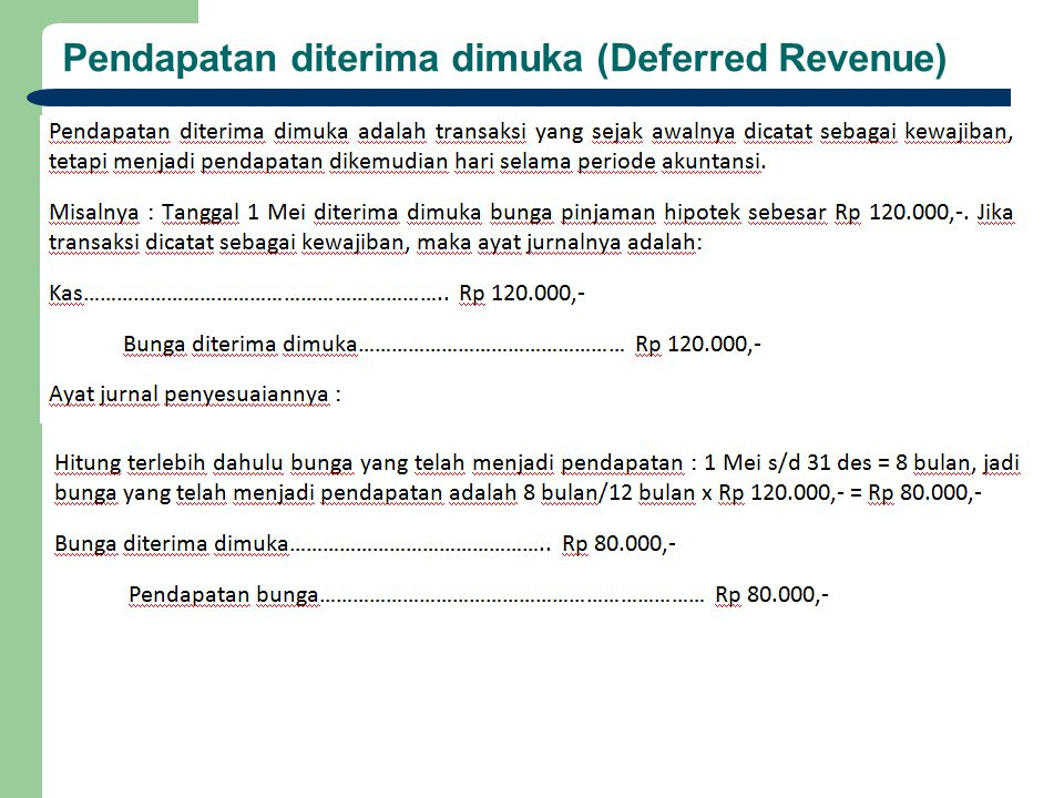 Pendapatan diterima dimuka (Deferred Revenue)