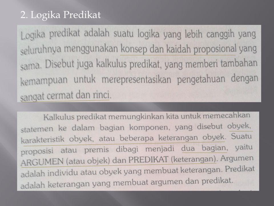 2. Logika Predikat