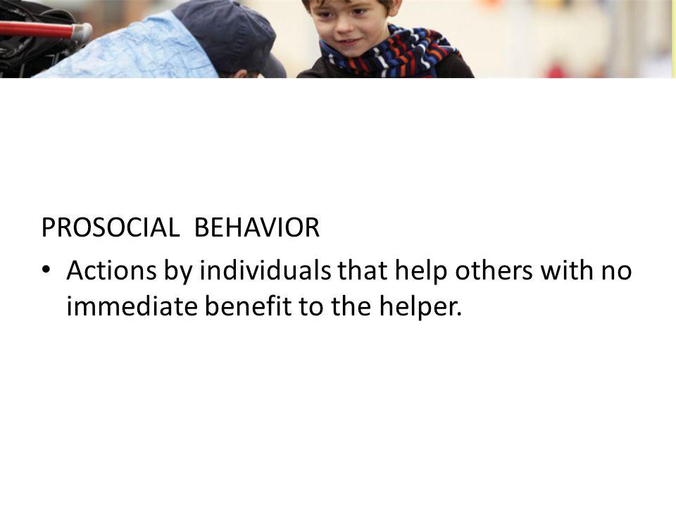 PERILAKU PROSOSIAL Suatu tindakan menolong yang menguntungkan orang lain tanpa harus menyediakan keuntungan langsung pada orang yang melakukan suatu tindakan, dan mungkin bahkan melibatkan suatu resiko pada orang yang menolong (Baron & Byrne, 2003)