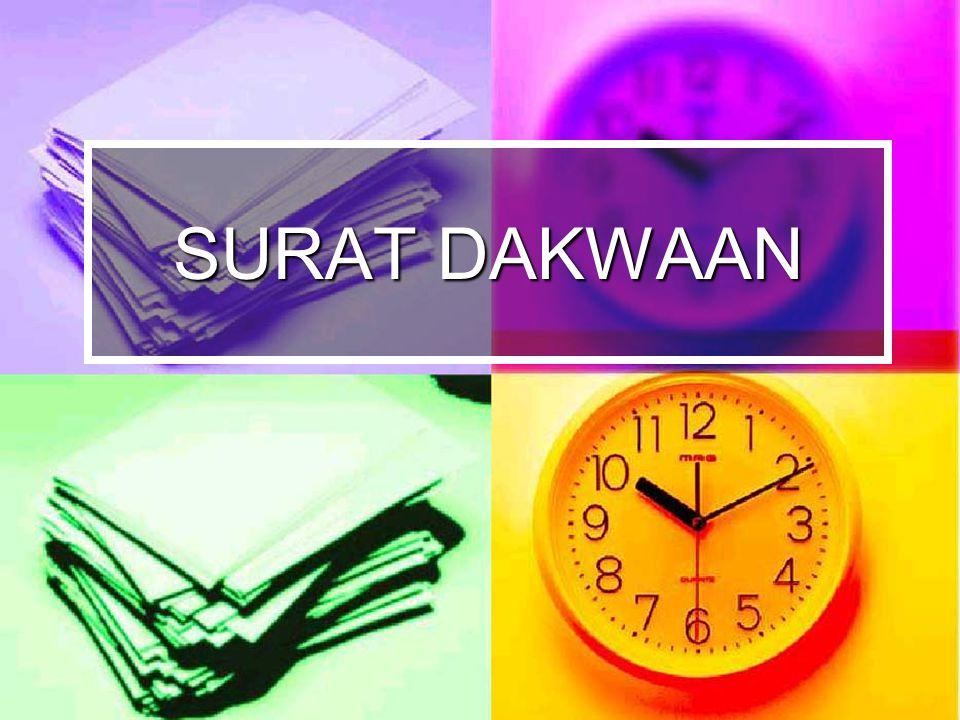 DEFINISI S.Dakwaan dalam Common Law System=opening statement S.