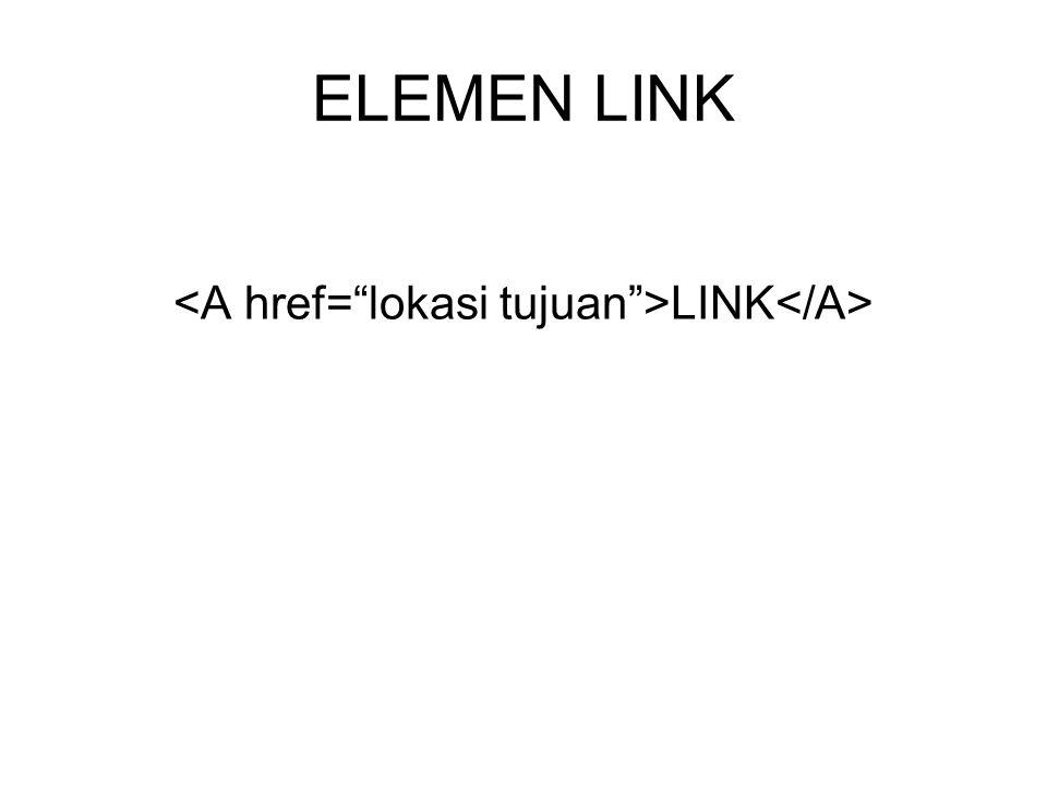 Link yang mengarah ke alamat email.