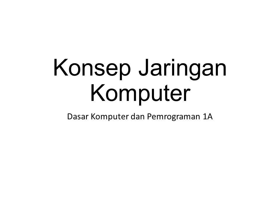 Konsep Jaringan Komputer Dasar Komputer dan Pemrograman 1A