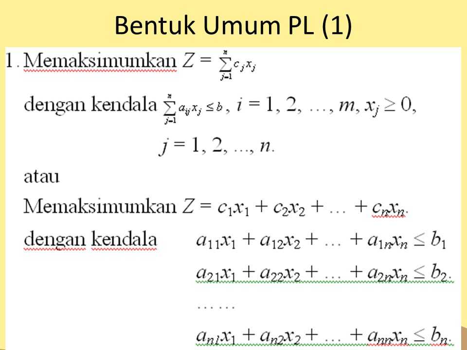 Bentuk Umum PL (1)