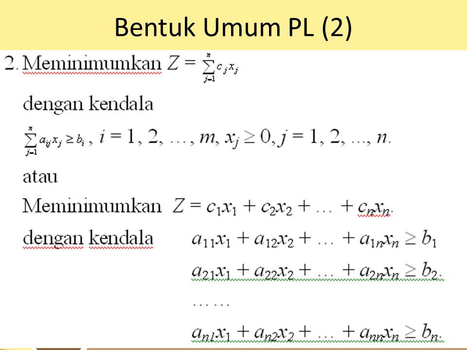 Bentuk Umum PL (2)