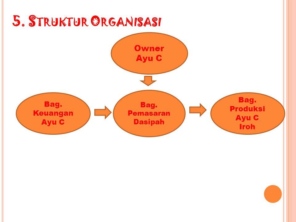 5.S TRUKTUR O RGANISASI Bag. Keuangan Ayu C Owner Ayu C Bag.