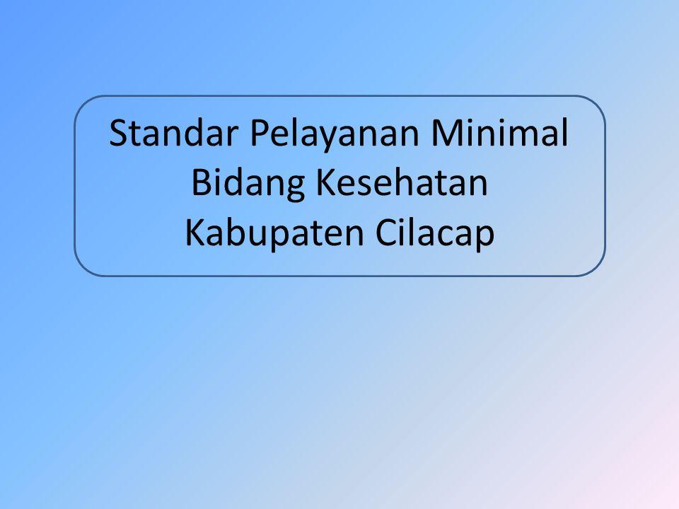 Pendahuluan Dasar Hukum Peraturan Menteri Kesehatan No.741 tahun 2008 tentang Standar Pelayanan Minimal Bidang Kesehatan di Kabupaten/Kota Peraturan Bupati Cilacap Nomor 98 tahun 2012 tentang Pedoman Penerapan dan Rencana Pencapaian SPM di Lingkungan Pemerintah Daerah Cilacap