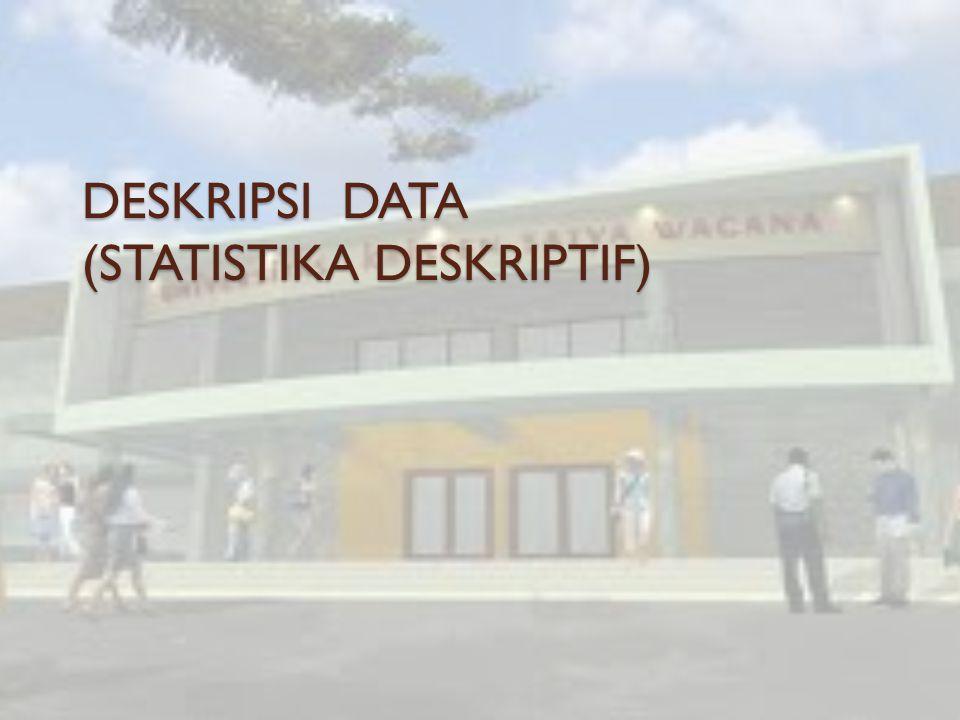 DESKRIPSI DATA (STATISTIKA DESKRIPTIF)