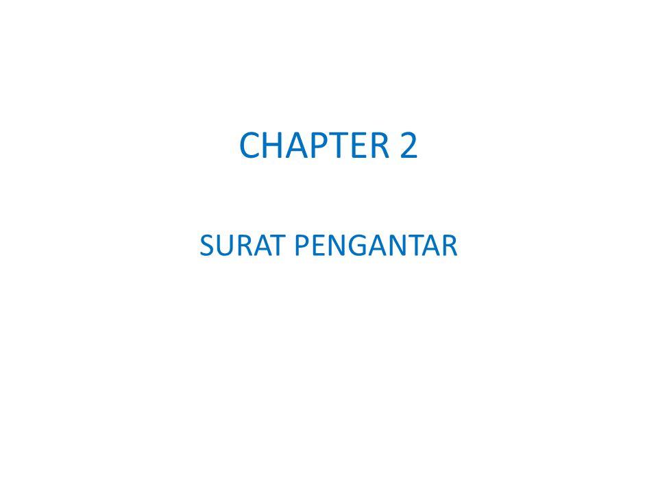 SURAT PENGANTAR CHAPTER 2