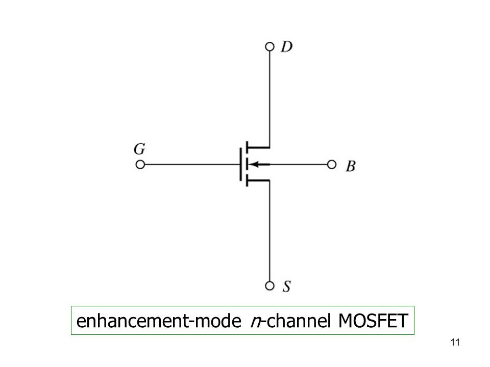11 enhancement-mode n-channel MOSFET