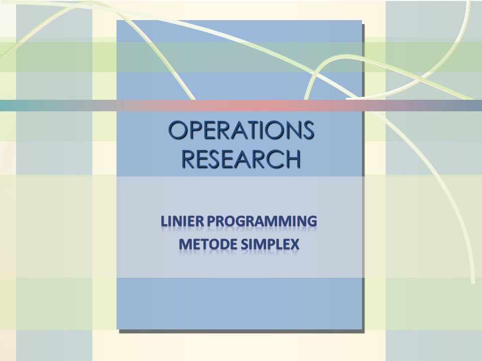 http://rosihan.web.id William J. Stevenson Operations Management 8 th edition OPERATIONS RESEARCH