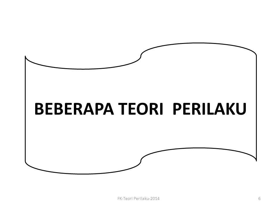 BEBERAPA TEORI PERILAKU FK-Teori Perilaku-20146