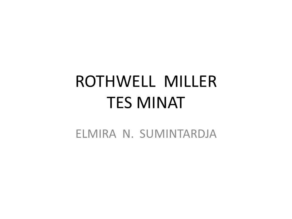 ROTHWELL MILLER TES MINAT ELMIRA N. SUMINTARDJA