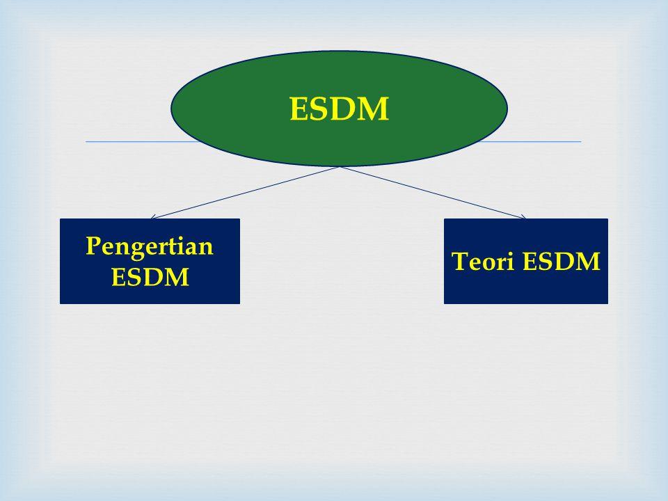  ESDM Pengertian ESDM Teori ESDM