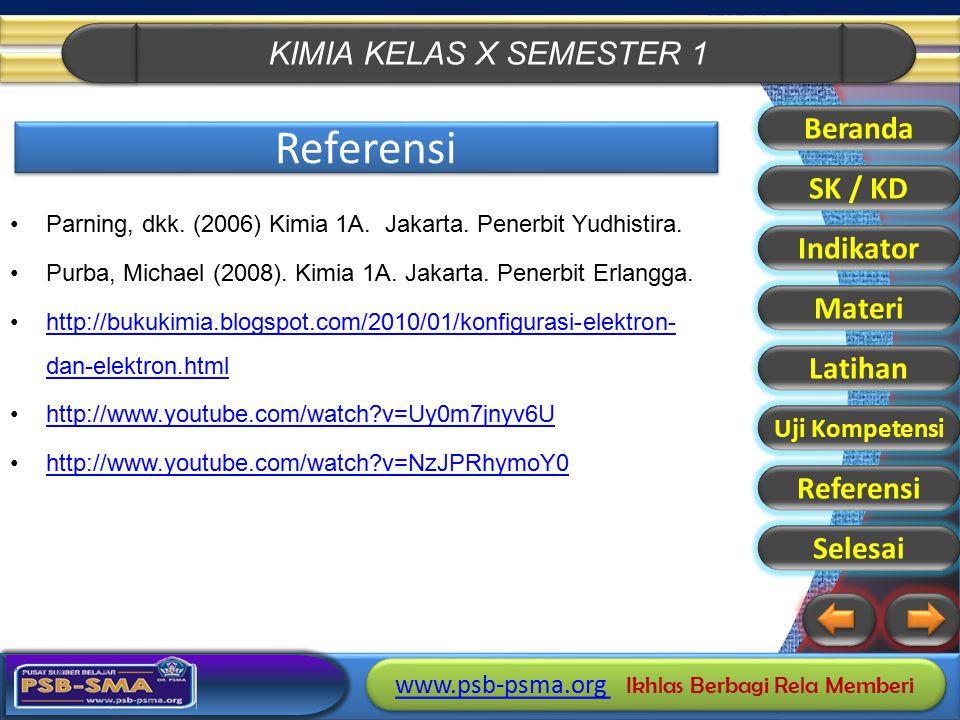 KIMIA KELAS X SEMESTER 1 www.psb-psma.org www.psb-psma.org Ikhlas Berbagi Rela Memberi www.psb-psma.org www.psb-psma.org Ikhlas Berbagi Rela Memberi R