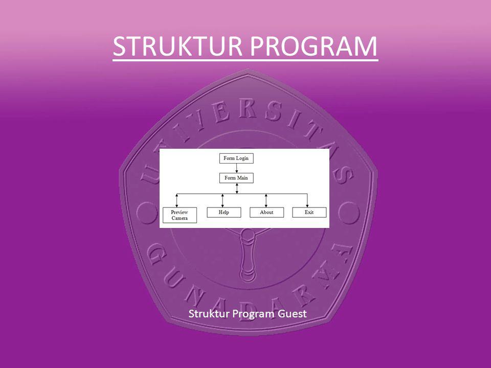 STRUKTUR PROGRAM Struktur Program Guest