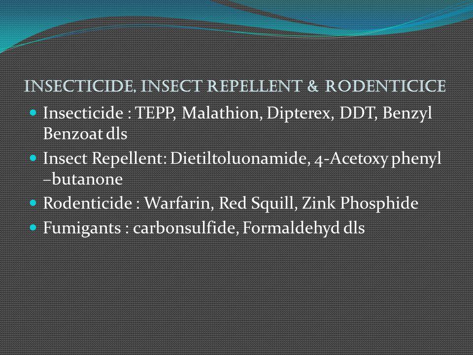 Surfactant Golongan Anionik Na-Lauryl Sulfat untuk Detergen Na- Ethasulfat untuk Mukolitik Aerosol Golongan Kationik Cetyl Pyridium Chlorid untuk Antiseptik Tonzonium Bromide untuk pembuatan detergen Golongan Non Ionik Tyloxapol dan Chlorhexidine untuk mukolitik dan bakterisid